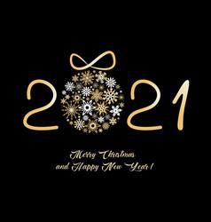 christmas greeting card 2021 vector image