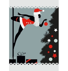 Christmas pole dancer vector image