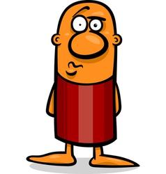 confused guy cartoon vector image