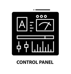 Control panel icon black sign with vector