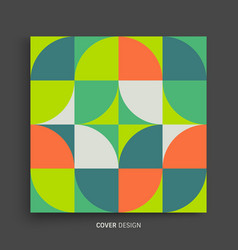 cover design template colorful geometric design vector image