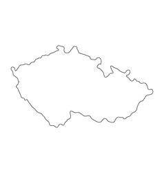 Czech republic map vector