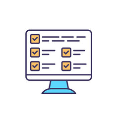 Database rgb color icon vector