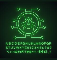 Digital virus neon light icon vector