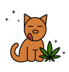 dog and cannabis leaf medical marijuana for pets vector image