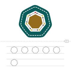 Draw a heptagon vector