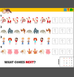 Educational pattern game for children with vector