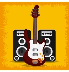 Electric guitar speaker music sound media festival vector