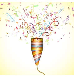 Exploding Party Popper With Confetti vector
