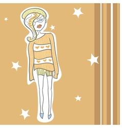 Fashionable girl vector