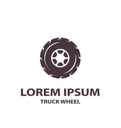 flat truck wheel icon vector image