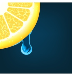 Flowing down drop on an orange segment vector