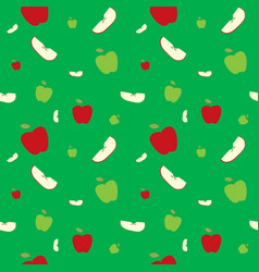 fruits apples seamless patterns vector image