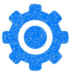 Gear grunge icon vector