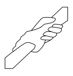 Grabbed hands icon vector