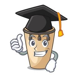 Graduation conga character cartoon style vector