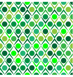 green abstract ornament seamless pattern vector image