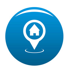 home map pointer icon blue vector image