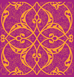 Iznik tile seamless pattern design classical vector