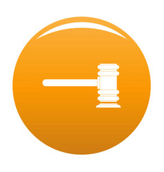 Legislation icon orange vector