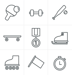 Line Icons Style Set of monochromatic vector image