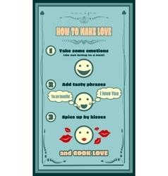 Love recipe card Creative template for invitation vector