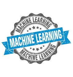 machine learning stamp sign seal vector image