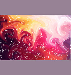 marbling red marble texture paint splash colorful vector image