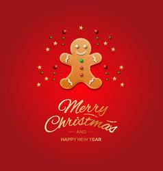 Minimalist style christmas greeting card vector