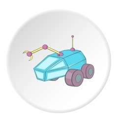 Moon rover icon cartoon style vector