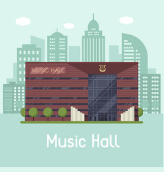 Music city hall landscape vector