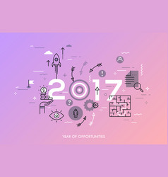 New trends prospects and predictions in business vector