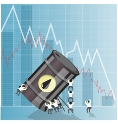 Oil industry crisis concept Drop in crude oil vector image