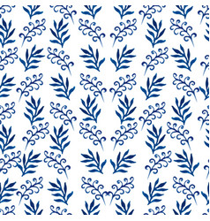 pattern branches watercolor vector image