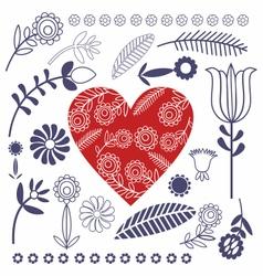 Pattern Folk Design vector