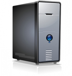 Pc case vector