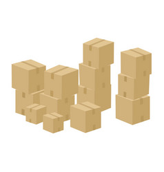 Pile of cartoon boxes vector