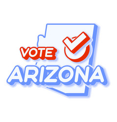 Presidential vote in arizona usa 2020 state map vector