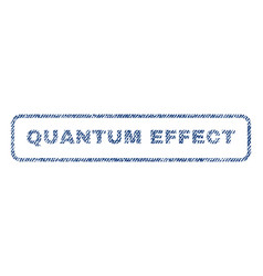 Quantum effect textile stamp vector