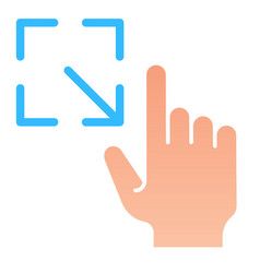 Resize gesture flat icon enlarge touch screen vector