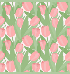 Seamless pattern abstract tulips pink vector