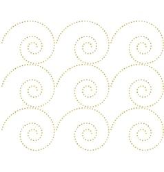 Seamless pattern of golden dots spirals vector