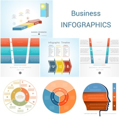 Set Templates Infographics positions 3 vector image vector image