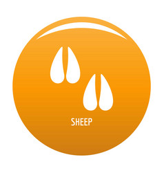 Sheep step icon orange vector
