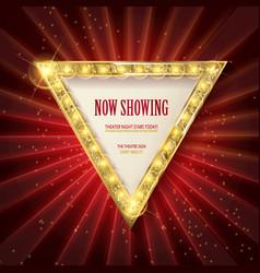Shining retro triangular light banner vector