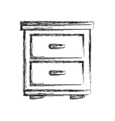 side table furniture home sketch vector image