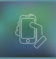 smartphone thin icon vector image