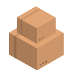 stack of carton box icon isometric style vector image