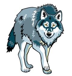 Standing wolf vector