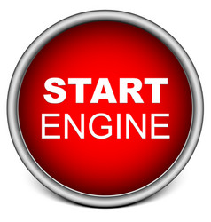 Start engine button vector